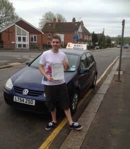 Chris Radcliffe, Intensive driving lessons student in Shrewsbury with pass