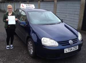 Megan Birdseye, Intensive driving lessons student in Shrewsbury with pass